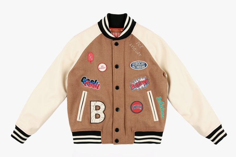 아이스비스킷 - Icebiscuit wappen baseball jumper 30% sale