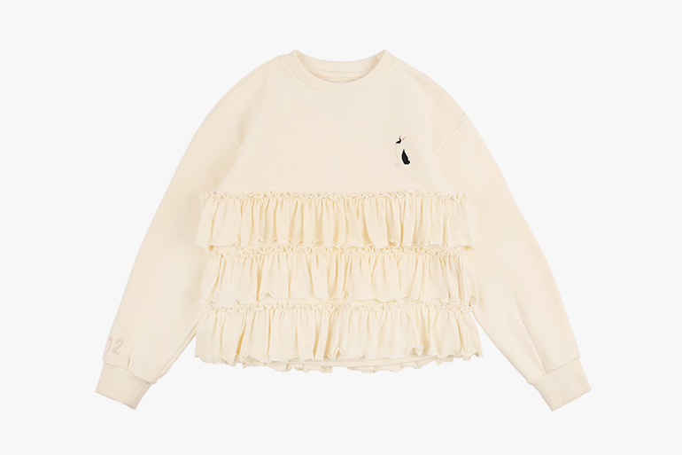 아이스비스킷 - Rabbit tiered ruffle sweatshirt 20% sale
