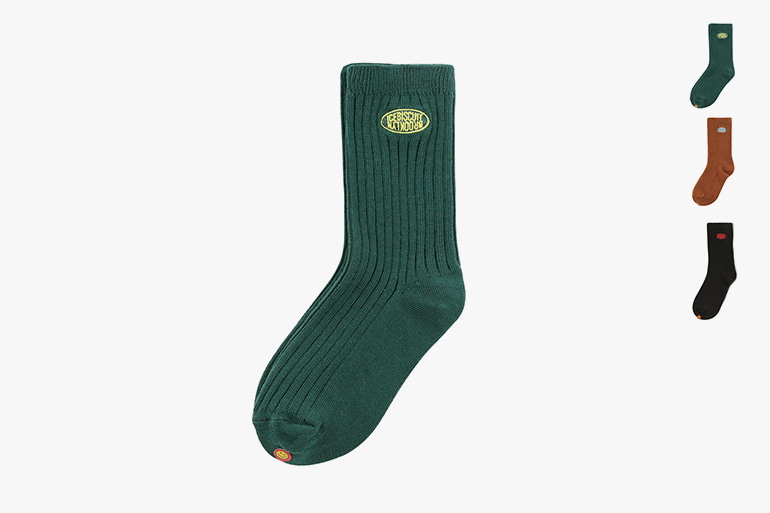 아이스비스킷 - Icebiscuit symbol logo ribbed socks