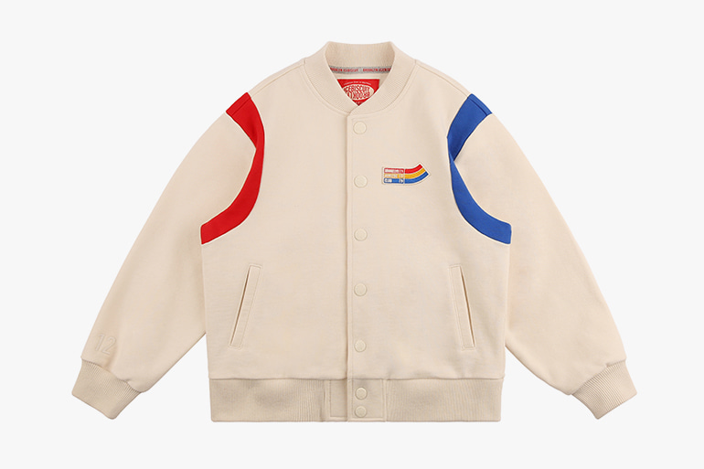 아이스비스킷 - Icebiscuit color block sweat baseball jacket 20% sale