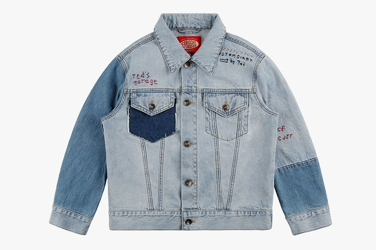 아이스비스킷 - Ted graffiti denim jacket