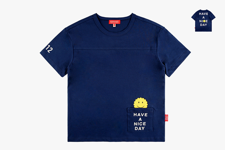 아이스비스킷 - Smile pocket short sleeve tee