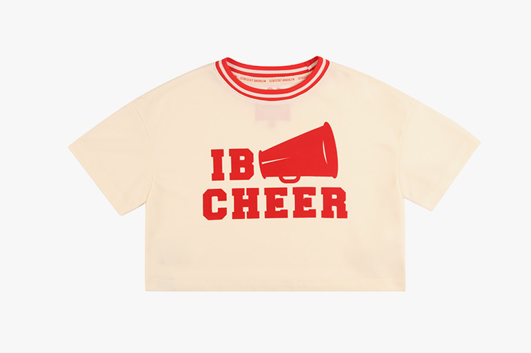 아이스비스킷 - IB cheer cropped jersey tee 20% sale