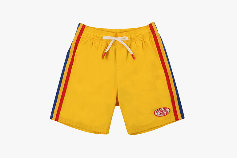 아이스비스킷 - Yellow color block shorts 20% sale