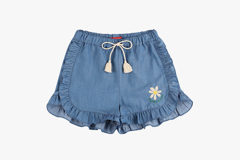 아이스비스킷 - Icebiscuit daisy frill chambray pants 20% sale