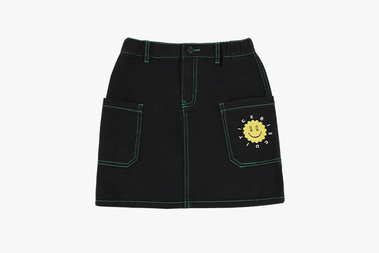 아이스비스킷 - Quiz smile color stitch skirt 20% sale