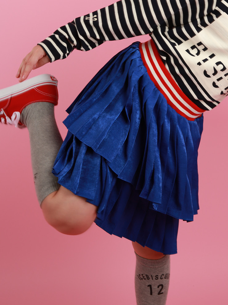 아이스비스킷 - Stripe band tiered skirt SPECIAL PRICE