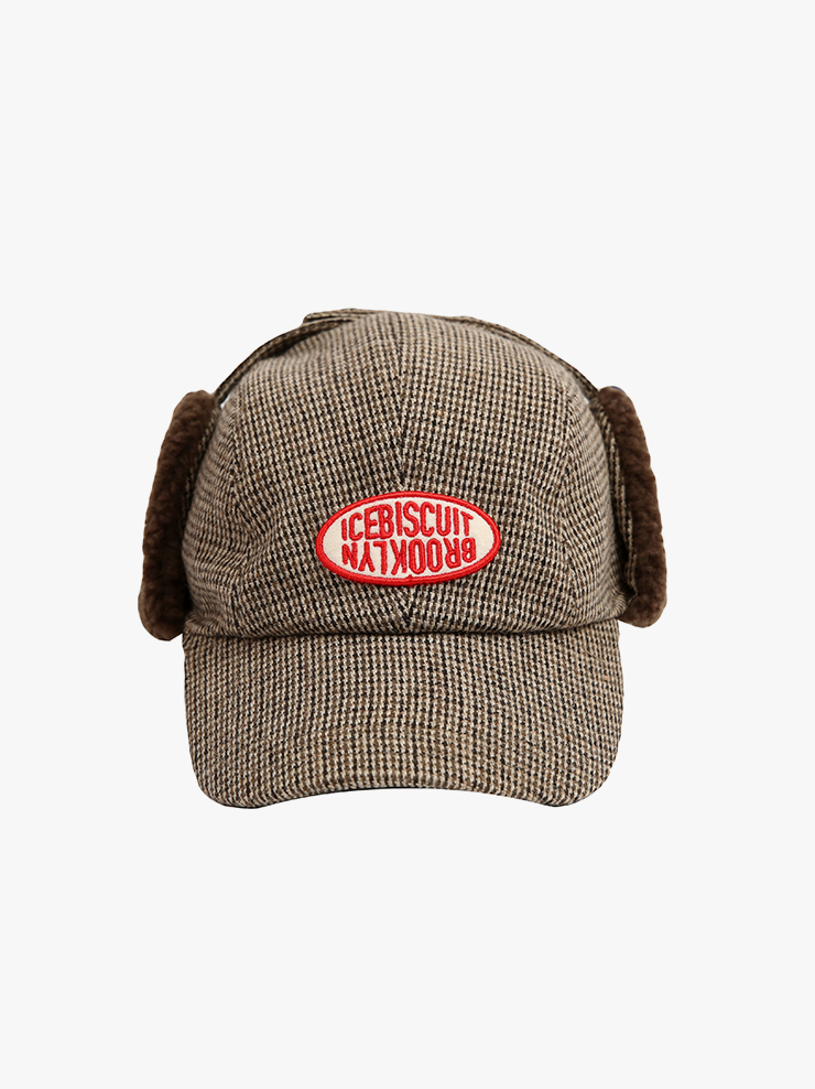 아이스비스킷 - Icebiscuit wool check hunting cap