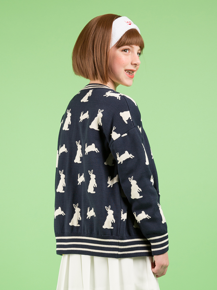 아이스비스킷 - Multi rabbit cardigan 30% sale