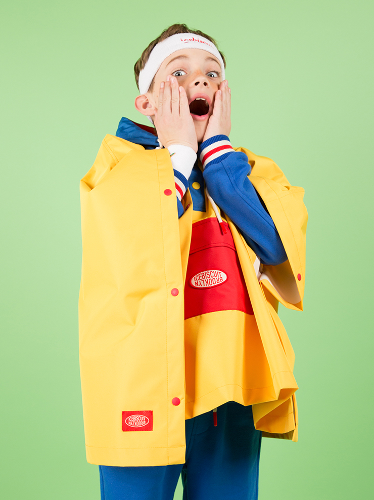 아이스비스킷 - Icebiscuit color block rain cape 30% sale
