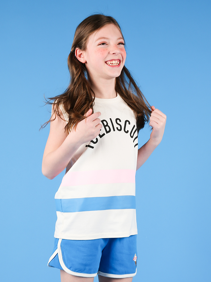 아이스비스킷 - Girl's stripe point tank top 30% sale