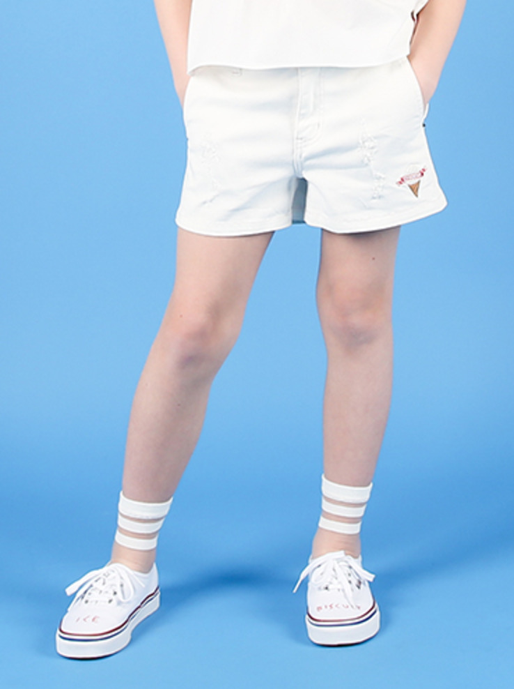 아이스비스킷 - Wendy white denim shorts 40% sale
