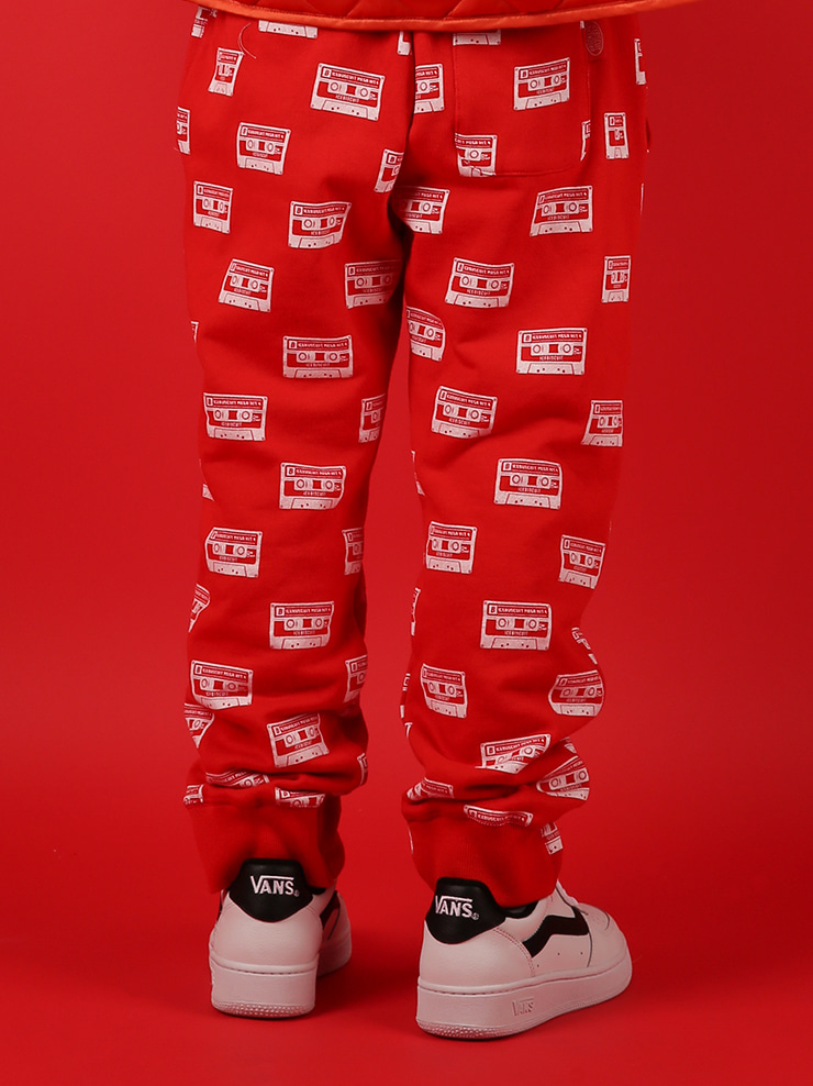 아이스비스킷 - Multi mix tape sweat pants 30% sale