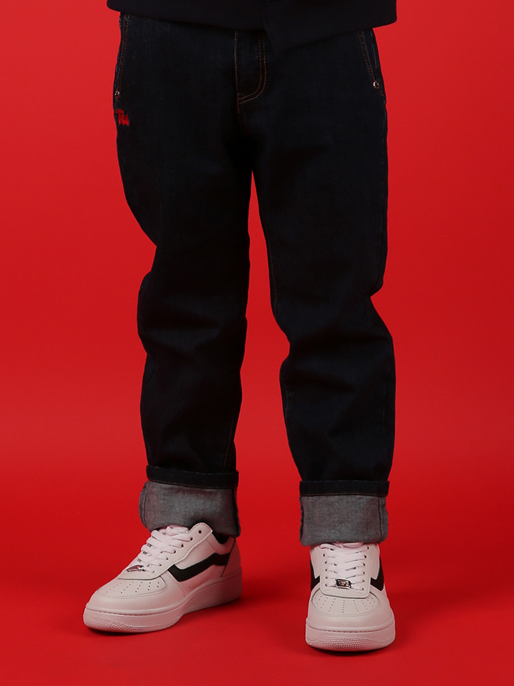 아이스비스킷 - Ted straight-fit indigo denim pants 30% sale
