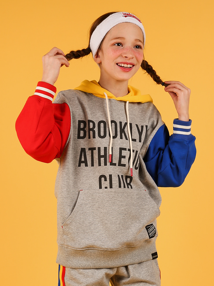 아이스비스킷 - Athletic club color block hoodie