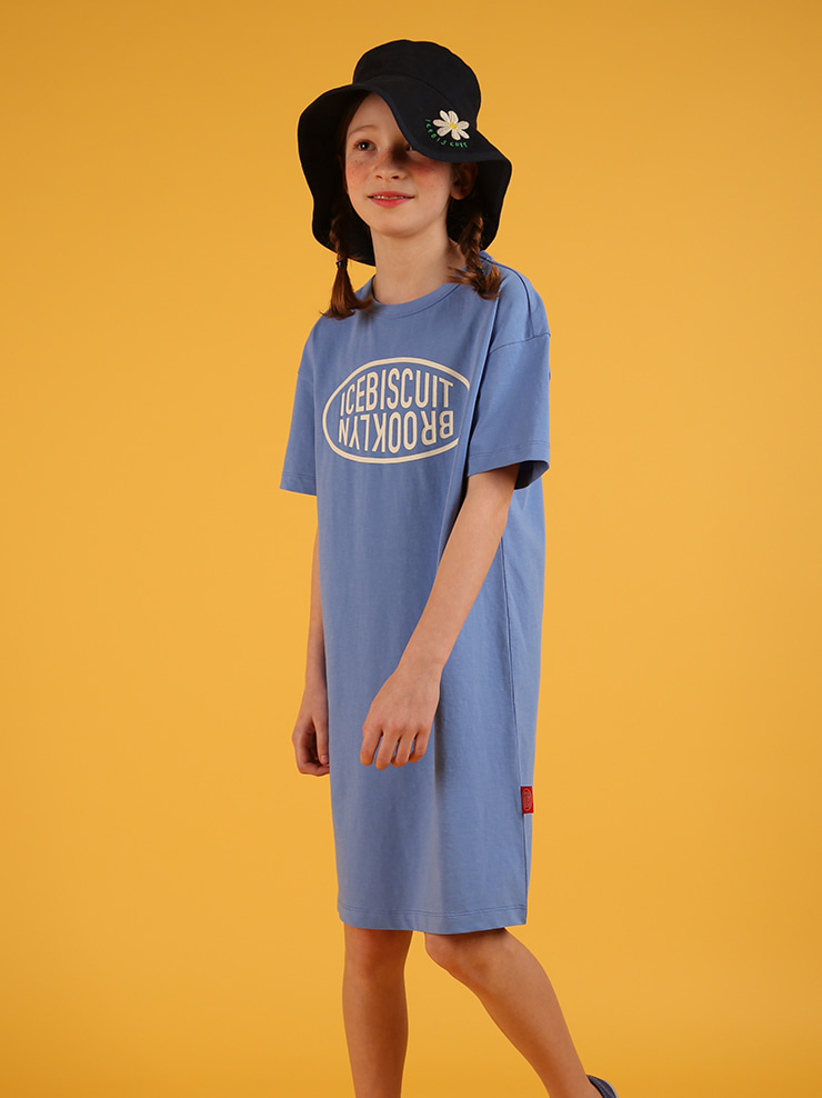 아이스비스킷 - Icebiscuit classic logo short sleeve dress