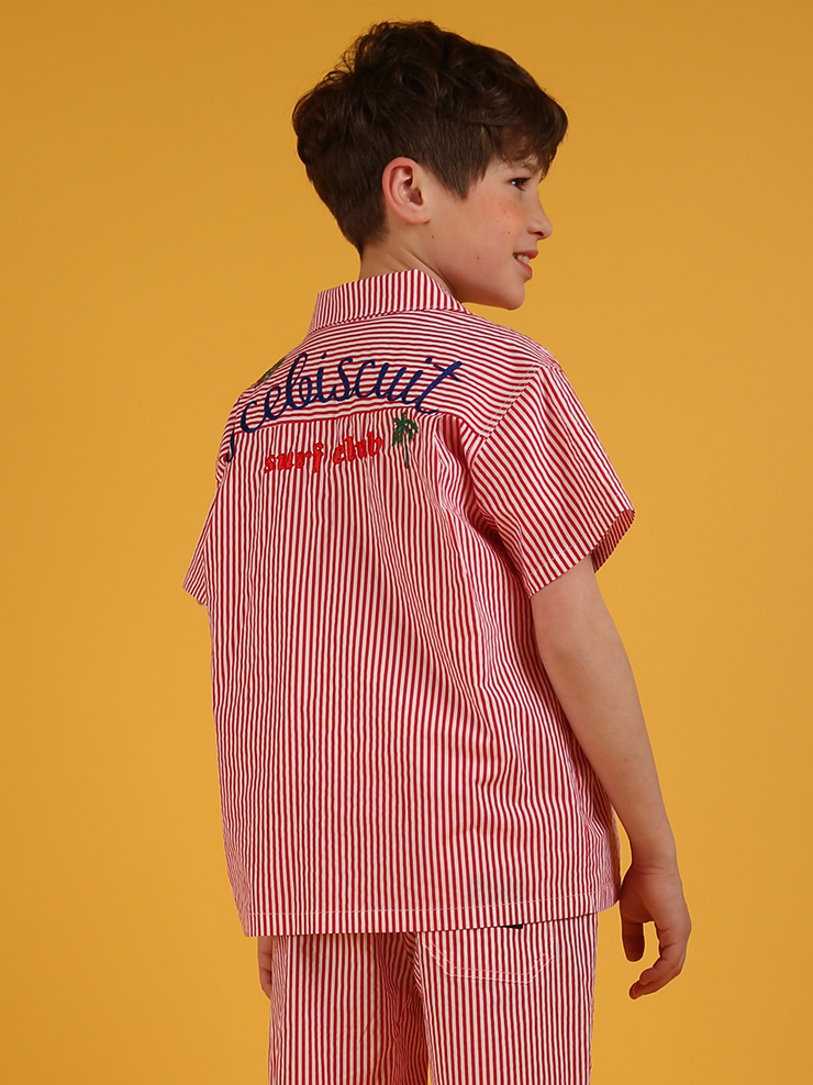 아이스비스킷 - Surf club stripe short sleeve shirts 20% sale