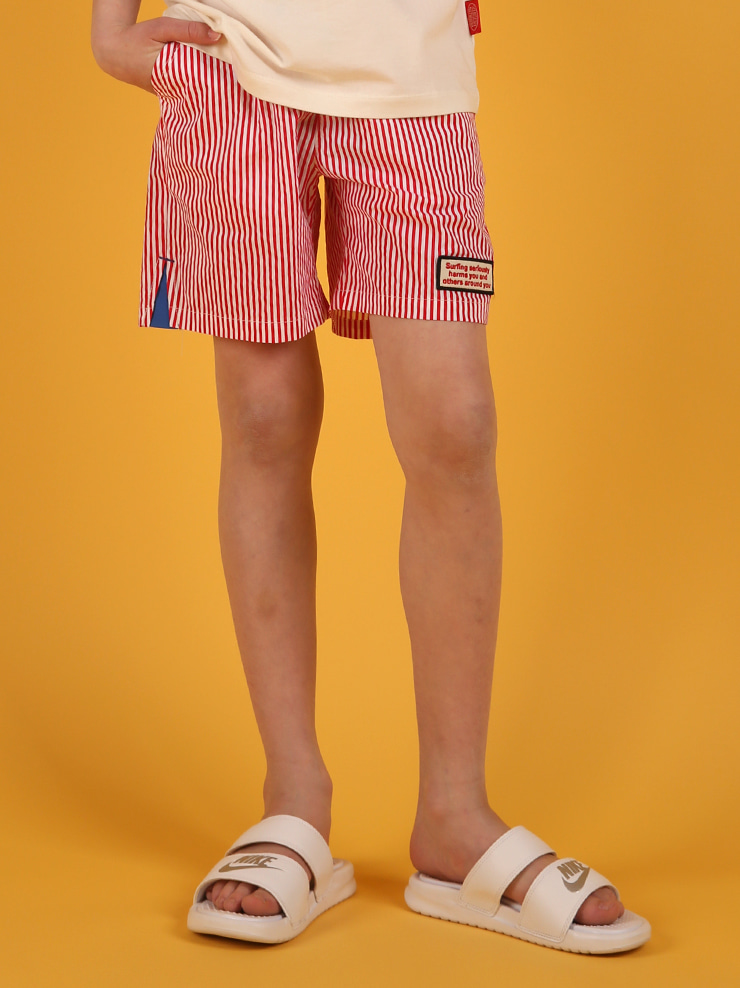 아이스비스킷 - Surf club stripe shorts