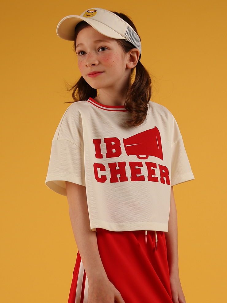 아이스비스킷 - IB cheer cropped jersey tee