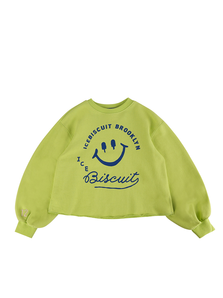 아이스비스킷 - Smile balloon sleeve sweatshirt