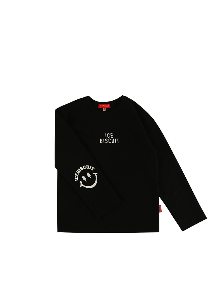 아이스비스킷 - Icebiscuit smile long sleeve tee 20% sale