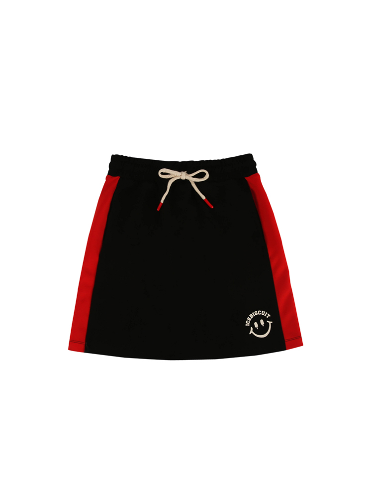 아이스비스킷 - Smile color block jersey skirt