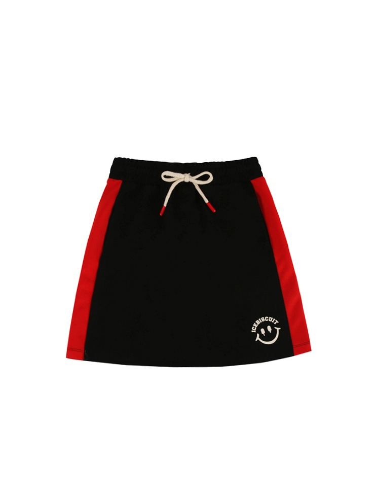 아이스비스킷 - Smile color block jersey skirt 20% Sale