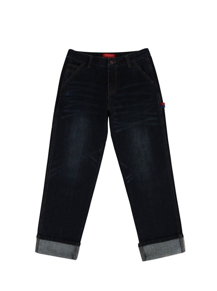 아이스비스킷 - Icebiscuit straight-fit indigo denim pants 20% Sale
