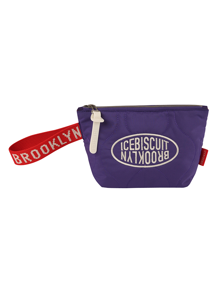 아이스비스킷 - Icebiscuit logo quilting clutch