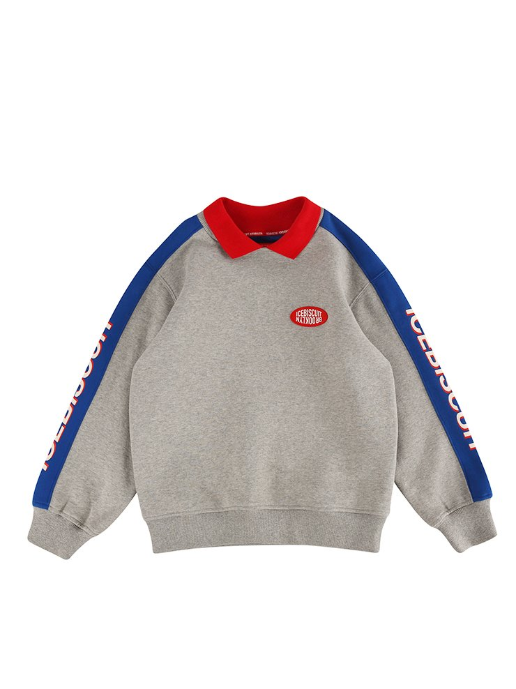 아이스비스킷 - Icebiscuit collar point sweatshirt (기모O)