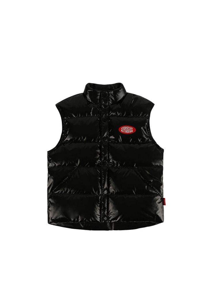 아이스비스킷 - Icebiscuit big logo puffy down vest 20% Sale