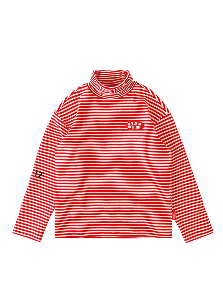 아이스비스킷 - Icebiscuit stripe turtleneck tee 20% Sale