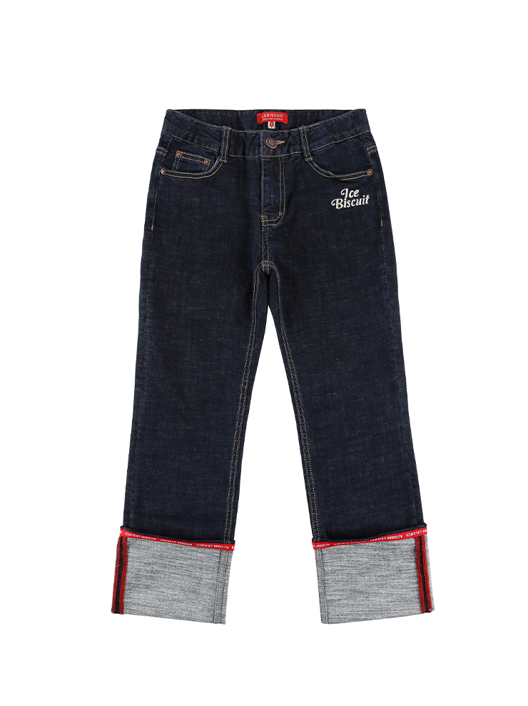 아이스비스킷 - Icebiscuit tape point roll-up denim pants 20% Sale