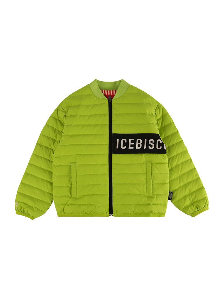 아이스비스킷 - Icebiscuit color block light down jacket