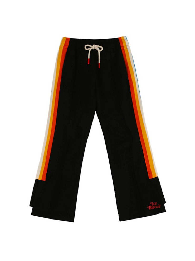 아이스비스킷 - Slit point boots-cut track pants