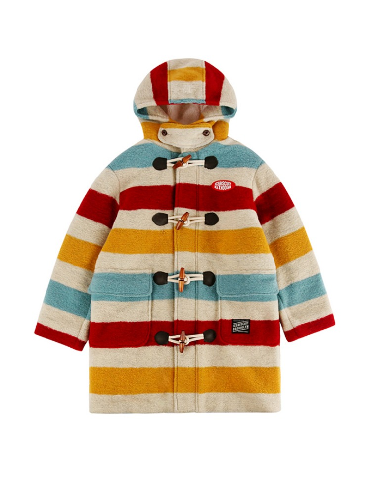 아이스비스킷 - Icebiscuit stripe duffle coat 20% Sale