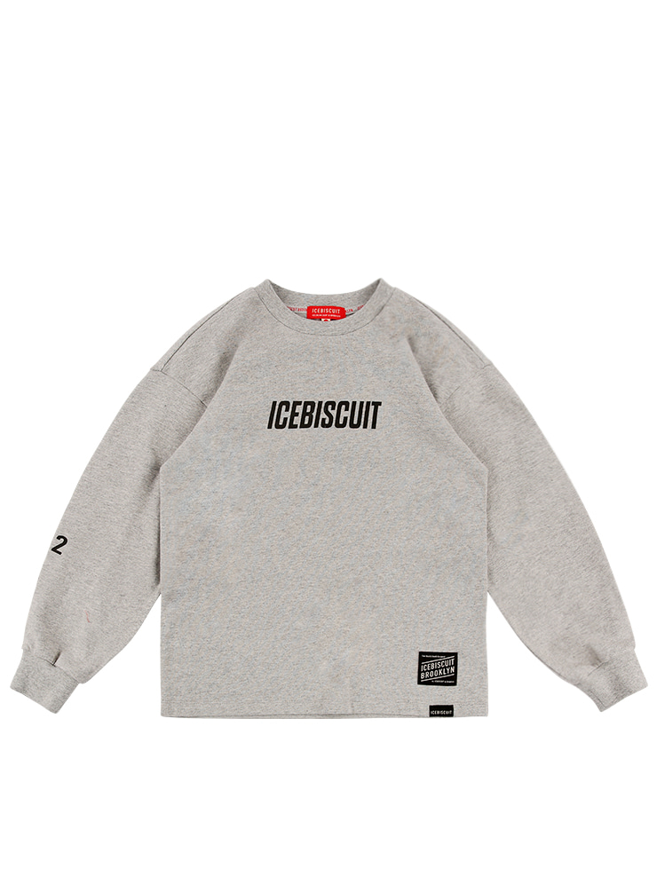아이스비스킷 - Icebiscuit letter long sleeve tee