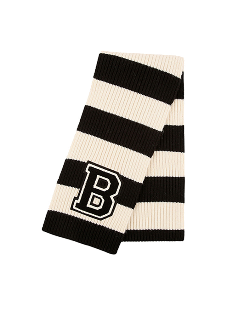 아이스비스킷 - B Wappen point stripe muffler 50% sale