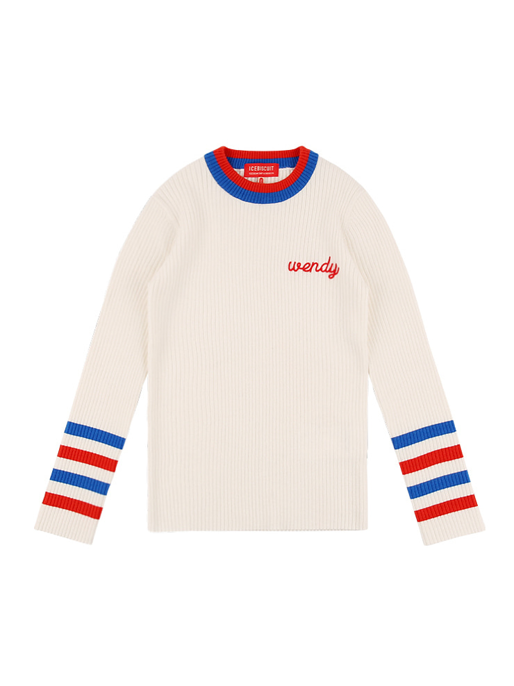 아이스비스킷 - Wendy color block sweater