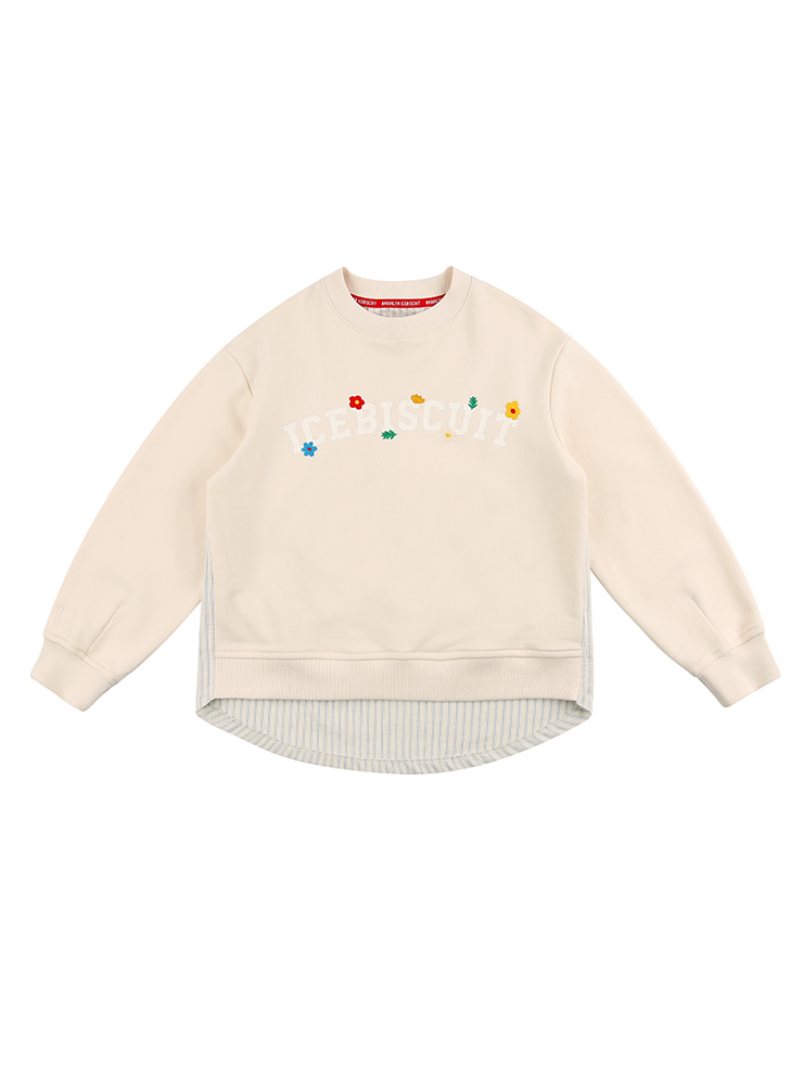 아이스비스킷 - Floral icebiscuit layered sweatshirt 20% sale