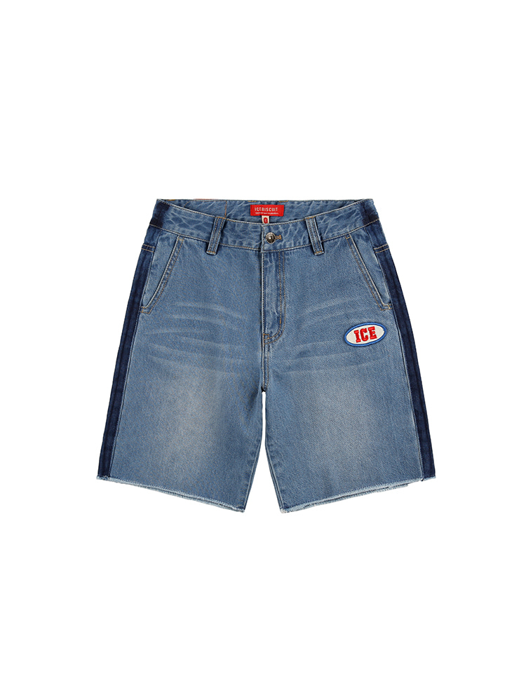아이스비스킷 - Ted graffiti denim shorts