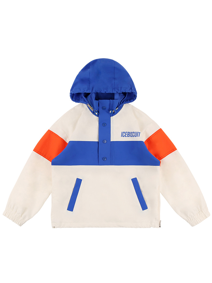 아이스비스킷 - Icebiscuit skate color block anorak