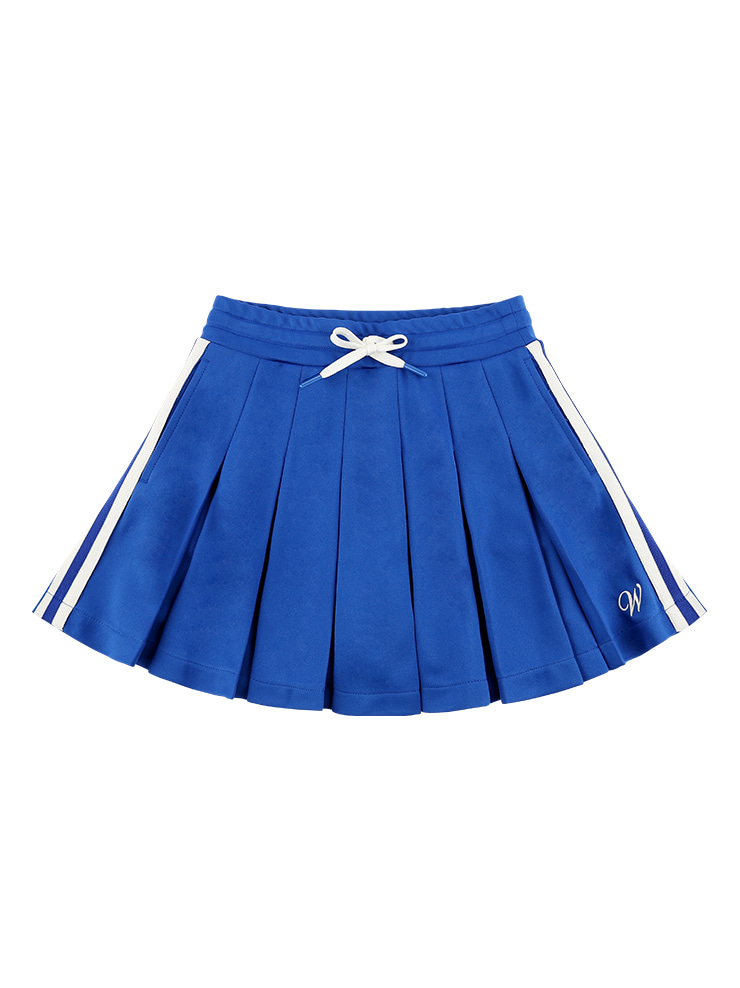 아이스비스킷 - Side point pleated jersey mini skirt
