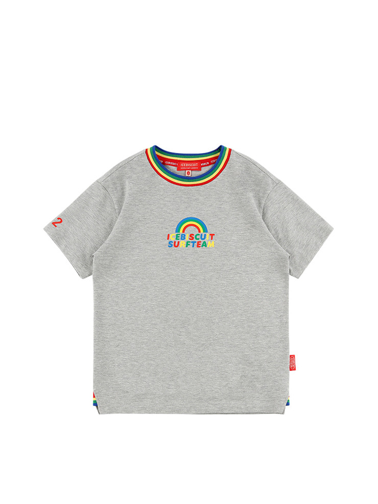 아이스비스킷 - Rainbow rib point short sleeve tee 20% sale
