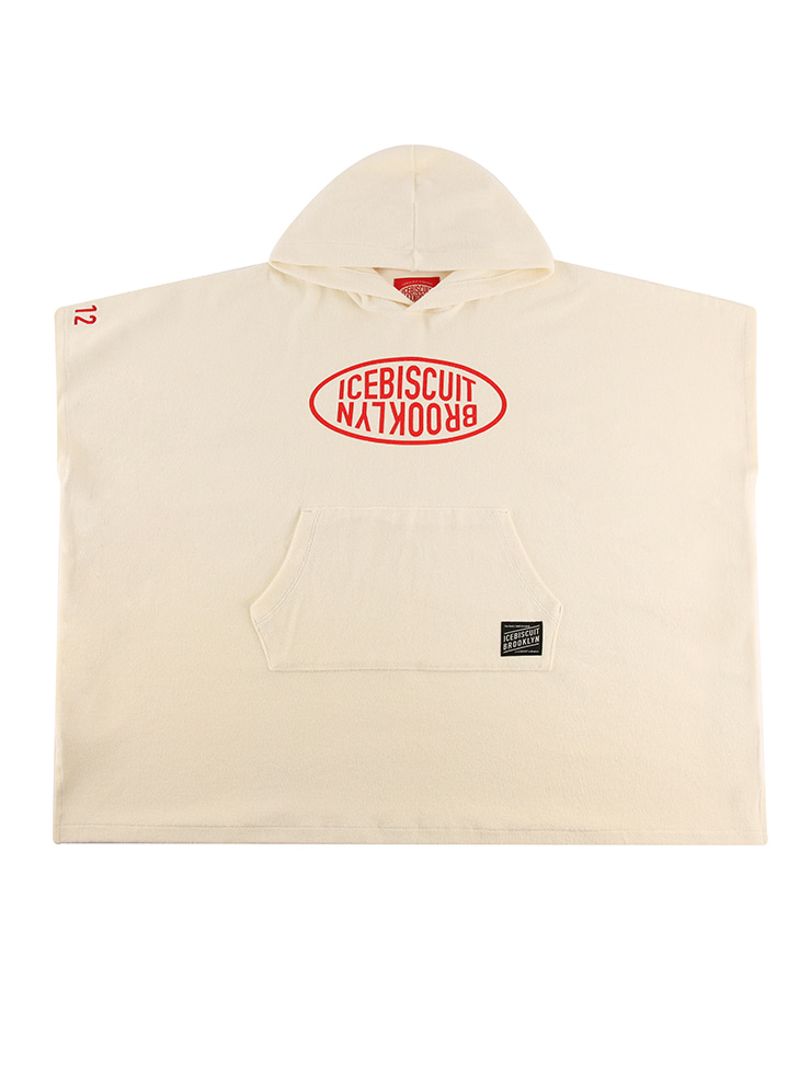 아이스비스킷 - Icebiscuit logo cotton terry poncho