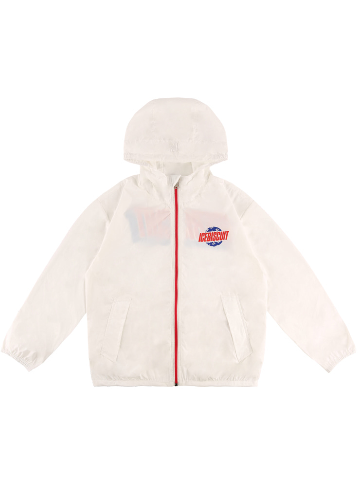 아이스비스킷 - Icebiscuit ripstop hooded windbreaker