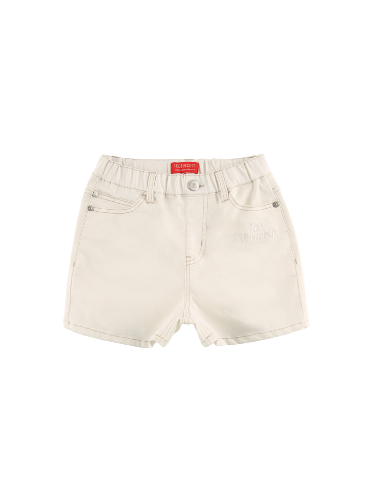 아이스비스킷 - Icebiscuit high waist color denim shorts