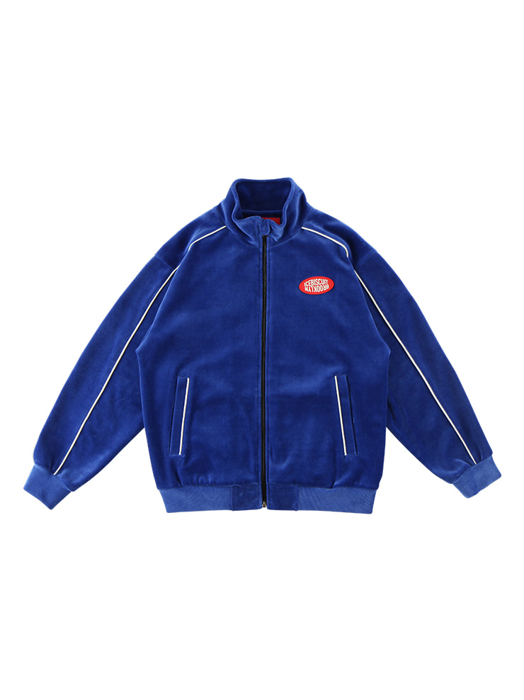 아이스비스킷 - Icebiscuit piping velour track jacket