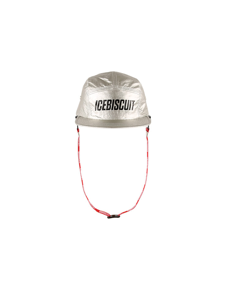아이스비스킷 - Icebiscuit detachable strap silver camp cap