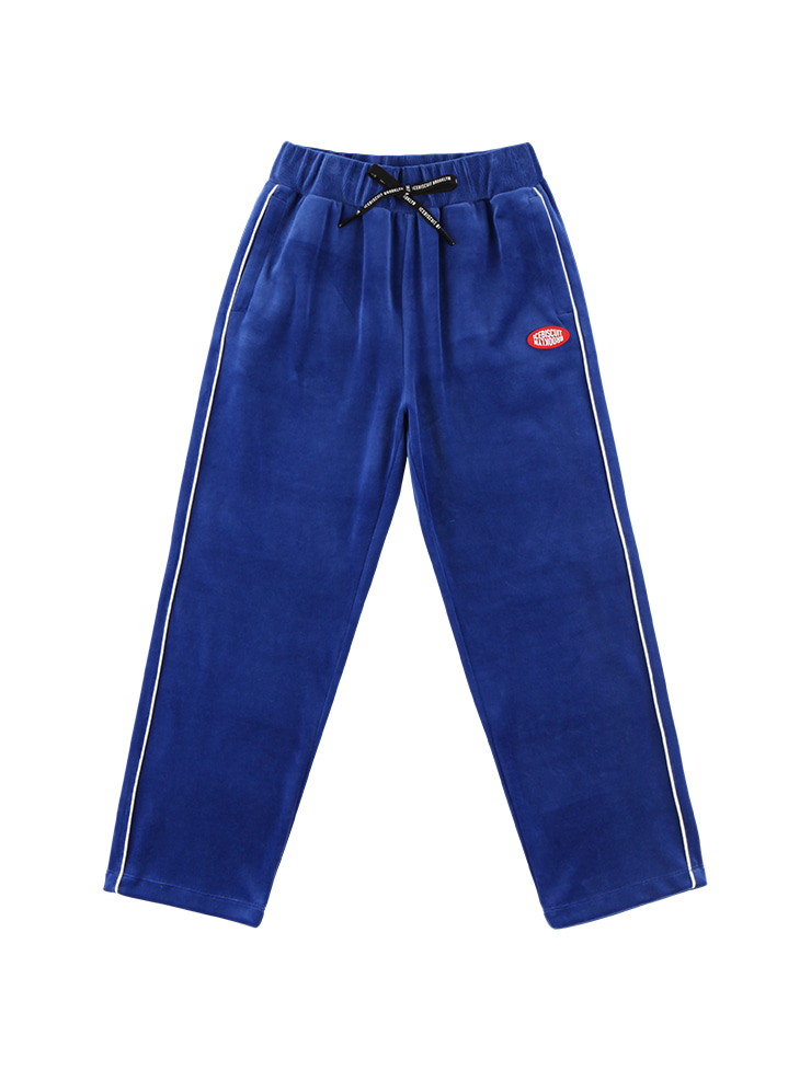 아이스비스킷 - Icebiscuit piping velour track pants